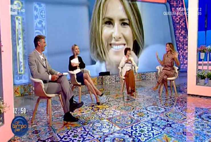 Anna Falchi nello studio televisivo - Altranotizia