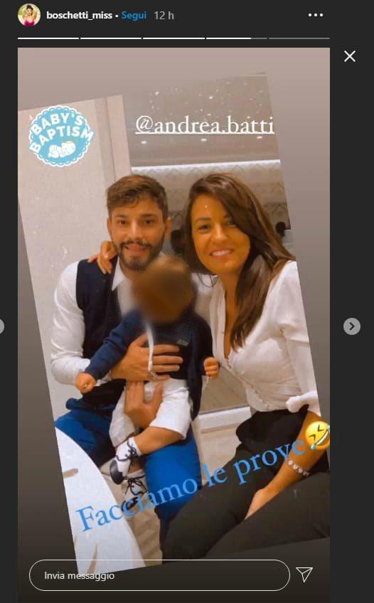 Anna e Andrea con il piccolo - Altranotizia