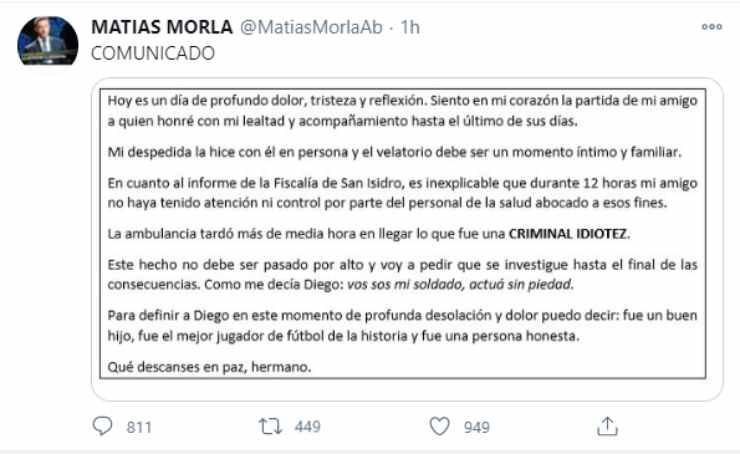 Maradona accusa shock avvocato