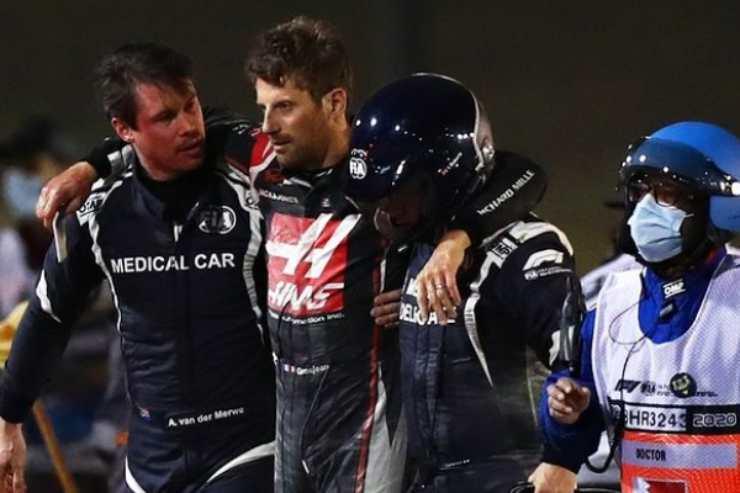 Terribile incidente per Romain Grosjean