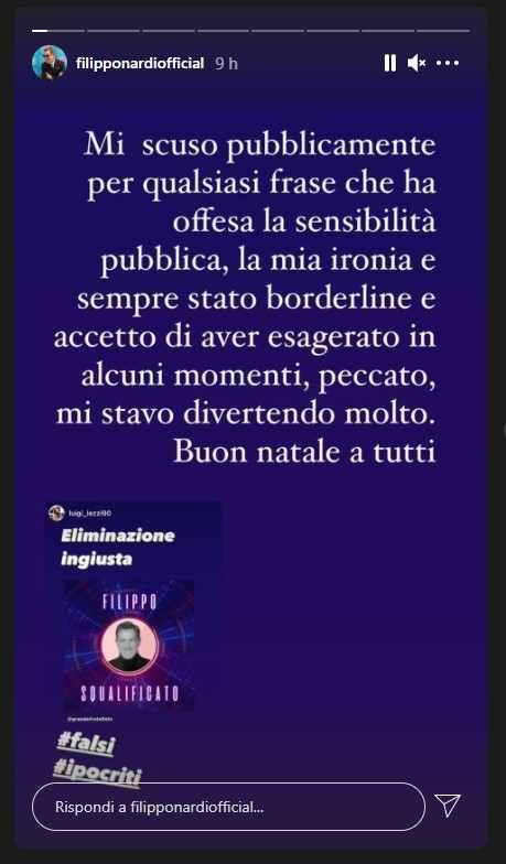 Filippo Nardi reazione