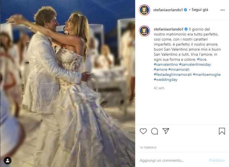 Stefania Orlando abito sposa