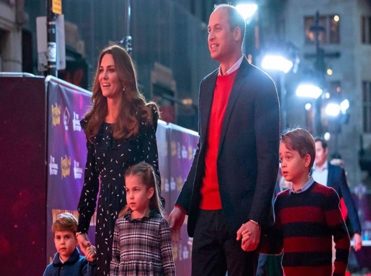 Kate e William con i figli