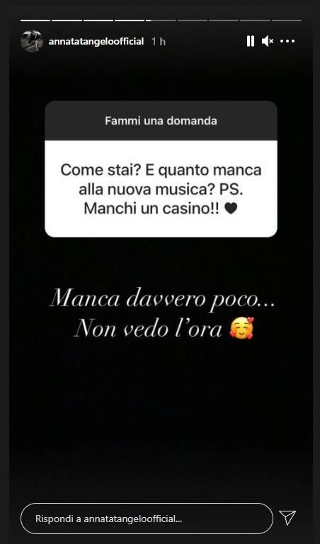 Anna Tatangelo annuncio