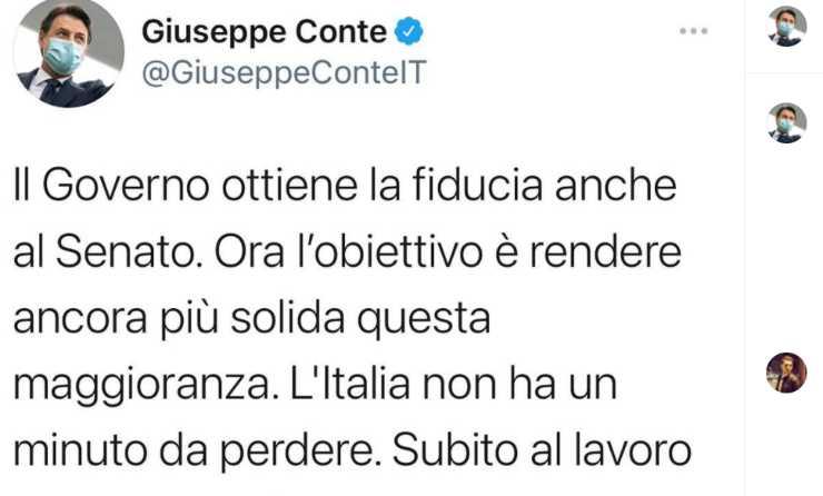 dimissioni di Conte
