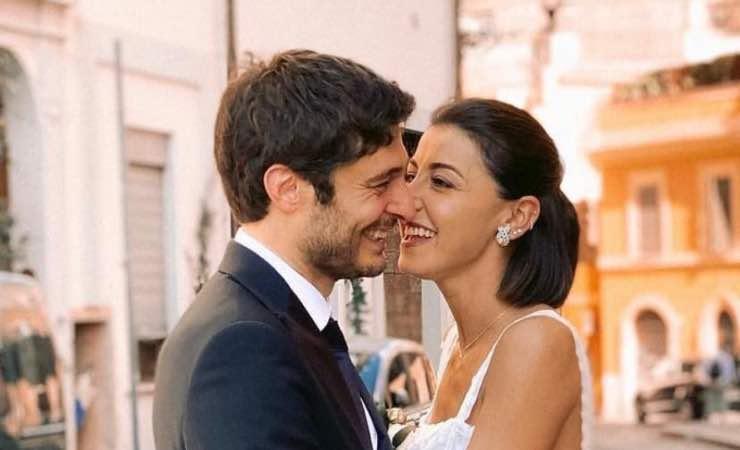 Lino Guanciale e sua moglie