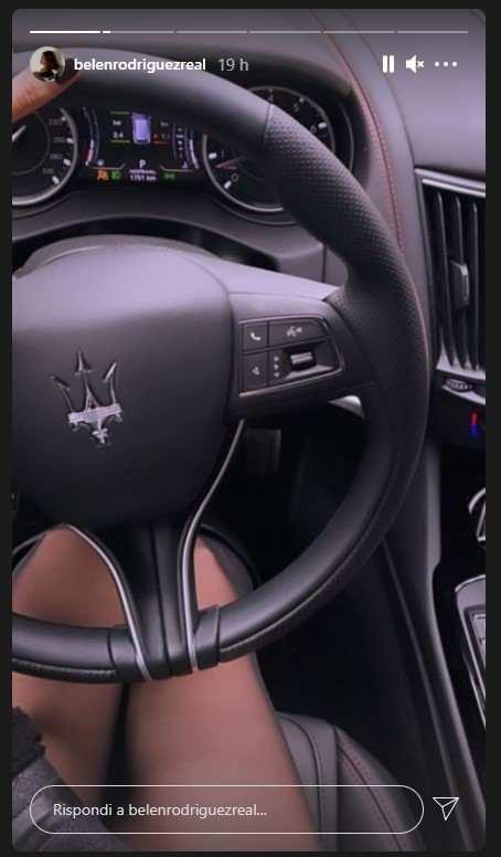 Belen Rodriguez Maserati