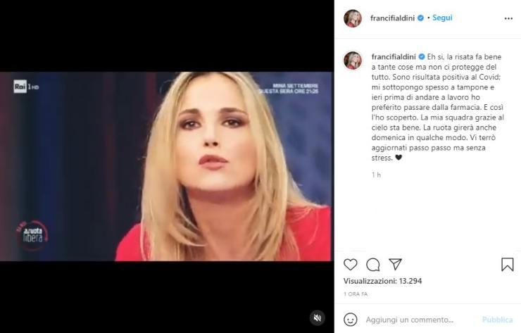 Francesca Fialdini annuncio