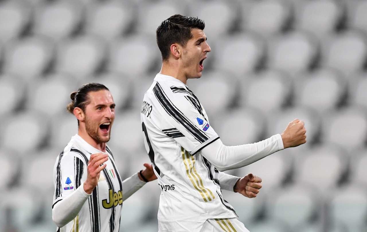 Adrien Rabiot e Alvaro Morata, Juventus