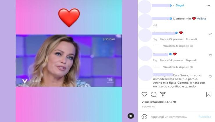 Sonia-Bruganelli-Instagram-Verissimo-Altranotizia